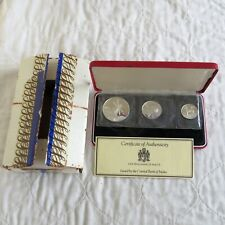 More details for malta 1977 scarce 3 coin silver proof set - sealed/complete/outer
