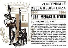 5875) ALBA (CUNEO) 1944 1964 VENTENNALE RESISTENZA, MEDAGLIA D'ORO.
