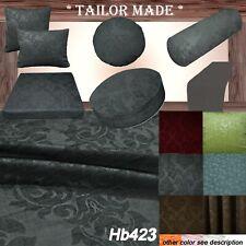 Hb423 Gray Damask Sofa Seat Patio Bench 3D Box Cushion Tube Bolster Cover/Runner