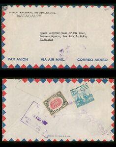 Mayfairstamps Nicaragua 1940s Matagalpa to US Airmail Cover wwp81529
