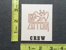 LED ZEPPELIN,Original Vintage cloth commemorative pass