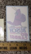 Vintage St Louis Cardinals MLB Busch Beer Go Cards Window Decal Sticker Cling