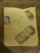 Gordie Howe Ted Lindsay Glen Hall Detroit Red Wings Chicago Blackhawks Autog Pg