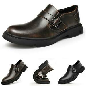 Retro Mens Business Leisure Shoes Work Office Oxfords Round Toe Biker Soft New L