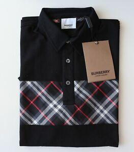 Burberry London Black & Blue Polo T-Shirt Size-tallas pocos