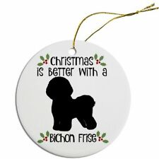 Mirage Pet Round Christmas Ceramic Ornaments 80 Dog Breeds