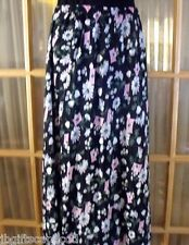 WOMEN'S DESIGNER FLORAL SKIRT - SZ 8 - ANKLE LENGTH - EUC - MADE IN USA!