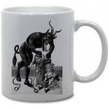 KRAMPUS COFFEE MUG! christmas german folklore pagan yule krampuskarten movie vtg