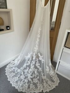 Geunine Unaltered Maggie Sottero Olys Detachable Over Skirt Wedding Dress 10 12