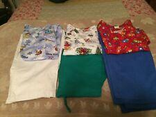 Lot of Ladies Christmas Scrub Sets-Size Medium