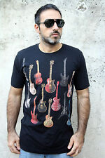 YOSAWA INDUSTRIES GUITAR Music BLACK SHORT SLEEVE T SHIRT MENS TOP GRAPHIC M