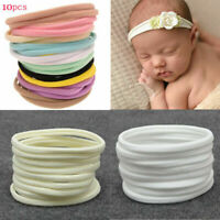 10pcs Nylon Headband for Baby Girl DIY Hair Accessories Elastic Headand Kids Hot