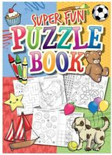Super Fun Puzzle Book Party Bag Christmas Stocking Fillers Cross Word Search etc