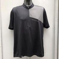 Pearl Izumi Black Gray 1/2 Zip Shirt Cycling Mens M
