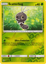 x4 Scatterbug - 6/131 - Common - Reverse Holo Pokemon Forbidden Light M/NM Engli