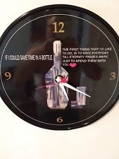 """JIM CROCE -GREAT WEDDING GIFT- IF I COULD SAVE TIME IN A BOTTLE - 12""""WALL CLOCK"""