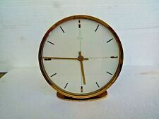 Vintage Kienzle Desk Clock Art Deco Brass & JUNGHANS quartz German Mid Century