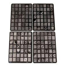 Tampons Vernis Stamping 4 Plaques Timbre Pochoir en Métal Image 168 Designs
