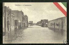 Tripoli Street Flood Inundation Libya Africa ca 1915