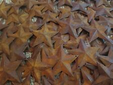 "200 pc Lot Rusty Barn Stars 100 ea 1.5"" & 2.25"" Primtive Country Rust Tin Metal"