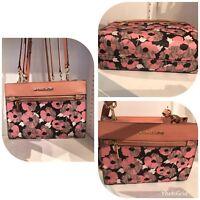 Michael Kors Hailee East West Crossbody Bag Messenger Peach MK Signature Floral