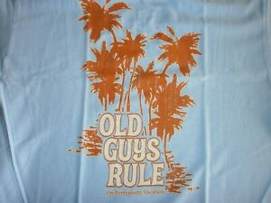 """OLD GUYS RULE """" ON PERMANENT VACATION """" PALM SURF M, L, XL, 2X, FREE SHIPPING"""