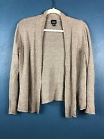 Eileen Fisher Womens Small Cardigan Open Front Tan Sweater Linen Viscose