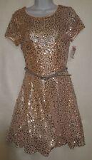 NEW Deb Size 11 Pink Tulle Full Sequins Flare Open Back Belt Formal Prom Dress