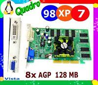 8x AGP WINDOWS 7 DUAL MONITOR Video Card. STANDARD PROFILE 128MB VGA & DVI LINUX