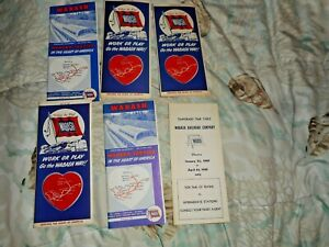 WABASH RAILROAD TIMETABLES  1948 to 1959  A NICE LOT