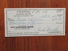 """JACK  DONOHUE(Died-1984)(""""Babes in Toyland"""")Signed 1972 Cancelled Personal Check"""