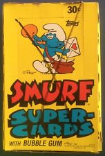 Vintage 1982 Topps SMURF Trading Cards & Wax Box (All 24x Packs, Complete)