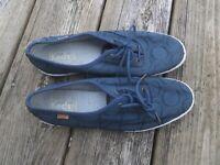 Keds Concentric Circle Jersey Blue Shoes, Size 8, Mint