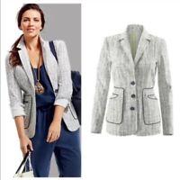 NWT CAbi White and Black Code Blazer Style 204 Size 8 $138