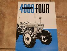 County 4000-Four original tractor sales brochure from 1969 with 4 pages