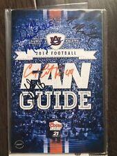 Malzahn Coates Artis Payne Marshall Autographed 2014 Auburn Football Program Coa