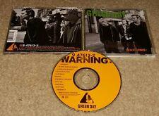 Warning Green Day American Punk/Pop gold stamp radio station dj promo Audio CD