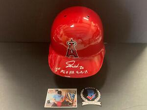 Jared Walsh Angels Auto Signed Full Size Helmet Beckett COA 1st MLB HR
