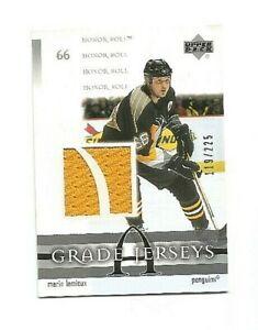 Mario Lemieux  2001-02 Honor Roll Grade A Jersey  card # J-ML   #'d/225