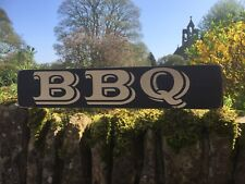 BBQ sign Wood Vintage Style Party Garden Pub Hotel Club Man Cave Gift Kitchen