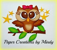 CRAFTECAFE MINDY OWL WOODS OUTDOOR premade paper piecing scrapbook die cut Title