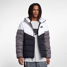 Nike Sportswear Windrunner Down Fill Men Hooded Jacket 2XL White Black Hoodie