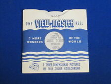 1953 VINTAGE BY THE ZUIDER ZEE HOLLAND VIEW-MASTER REEL & SLEEVE #1900