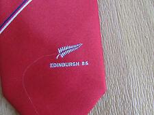 EDINBURGH B6 Red Tie by Eskay Made in New ZEALAND