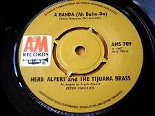 """HERB ALPERT & THE TIJUANA BRASS - A BANDA (AH BAHN-DA)  7"""" VINYL"""