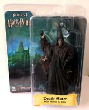 "HARRY POTTER DEATH EATER 7"" ACTION FIGURE WITH WAND+BASE SERIES 1 NECA REEL TOYS"