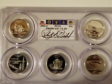 2005-S 25c Proof State Quarters PCGS PR69DCAM Unc 5 Coin Multi Holder Set