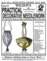 Weldon's 2D #37 c.1888 Victorian Embroidery & Sewing Patterns for Bags & Gifts