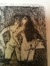 "Etching ""Bathers"" Figurative Art (Edition: 1/6) Signed: D. Fox 91 (Unframed)"