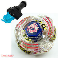 Lightning L-Drago BB-43 BEYBLADE Masters Fusion Metal+GRIP+BLUE SPIN LAUNCHER